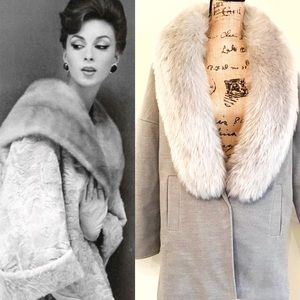 Jackets & Blazers - M Flannel Duffle Coat with Faux Fur Collar Winter